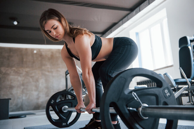Squats Workout for female beginners at gym