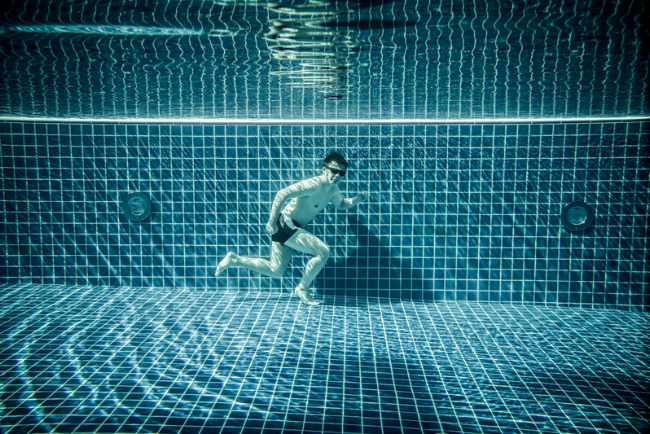 Pool exercises after hip replacement